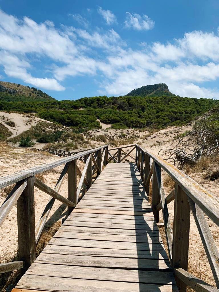 A walkway leading away from Cala Mesquida to Cala Torta