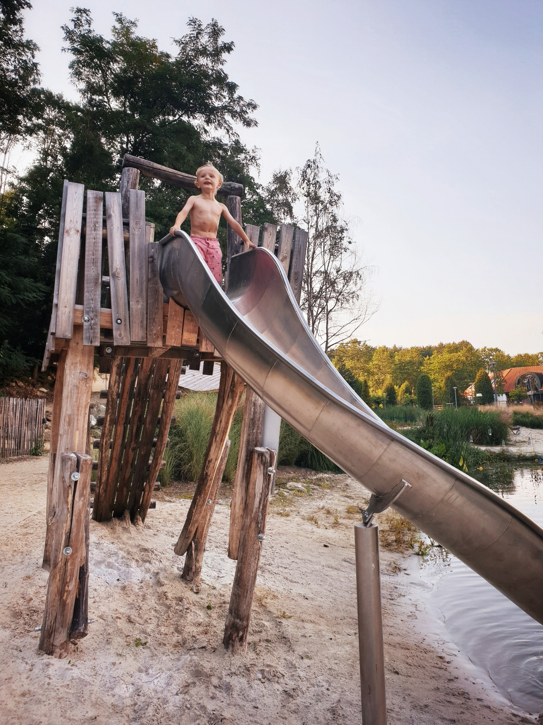 This water slide provided hours of fun