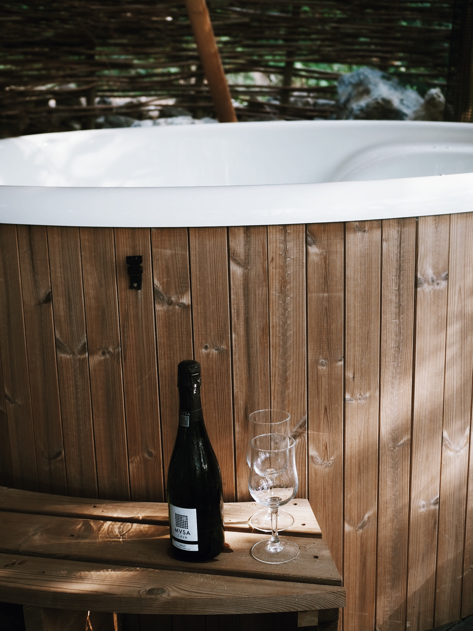 Romantic hot tub for……..5!