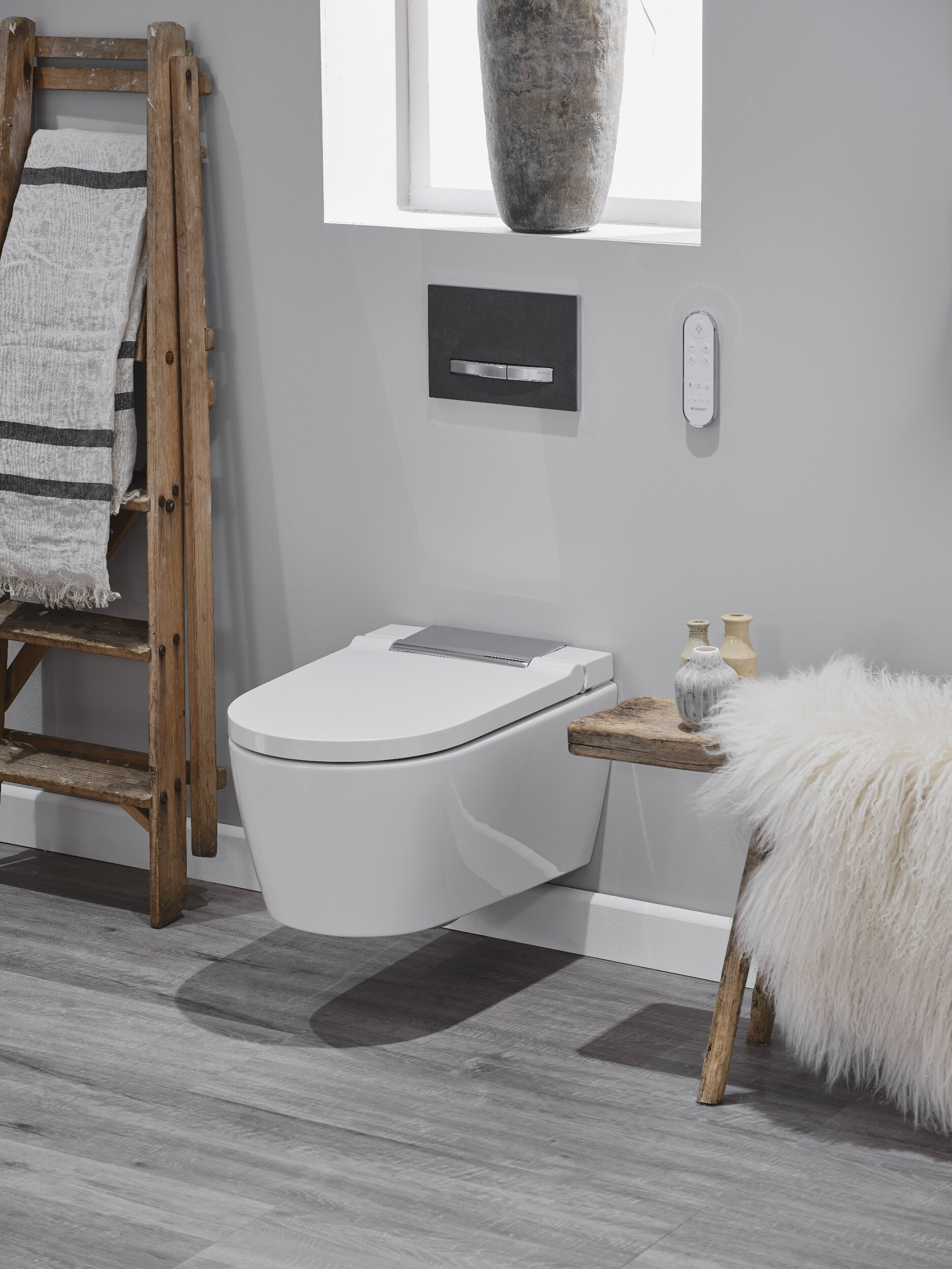 Geberit's soft touch flush plates ensure the tranquility of your bathroom experience is not disturbed