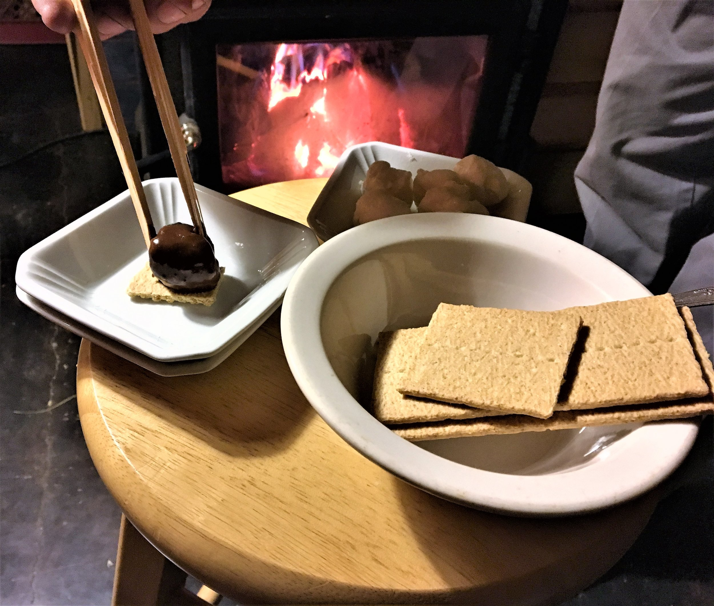 Chocolate Fondue Spiked S'mores.JPG