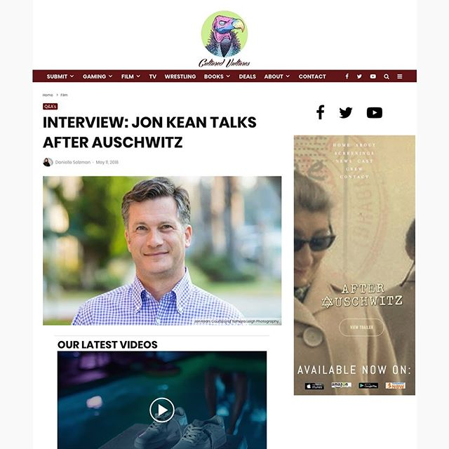 Sharing an interview with After Auschwitz director Jon Kean from CultureVultures.com 😎 ( https://culturedvultures.com/interview-jon-kean-talks-after-auschwitz ) 💻 #interview #culture #culturevulture #director #movies #films