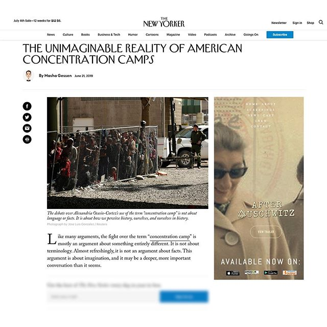 """From The New Yorker: 💻 In a Monday-evening live stream, Representative Alexandria Ocasio-Cortez, of New York, called the U.S.'s detention facilities for migrants """"concentration camps."""" On Tuesday, she tweeted a link to an article in Esquire in which Andrea Pitzer, a historian of concentration camps, was quoted making the same assertion: that the United States has created a """"concentration camp system."""" Pitzer argued that """"mass detention of civilians without a trial"""" was what made the camps concentration camps. The full text of Ocasio-Cortez's tweet was """"This administration has established concentration camps on the southern border of the United States for immigrants, where they are being brutalized with dehumanizing conditions and dying. This is not hyperbole. It is the conclusion of expert analysis."""" Hackles were immediately raised, tweets fired, and, less than an hour and a half later, Representative Liz Cheney, of Wyoming, tweeted, """"Please @AOC do us all a favor and spend just a few minutes learning some actual history. 6 million Jews were exterminated in the Holocaust. You demean their memory and disgrace yourself with comments like this."""" A high-pitched battle of tweets and op-eds took off down the much travelled dead-end road of arguments about historical analogies. These almost never go well, and they always devolve into a virtual shouting match if the Holocaust, the Nazis, or Adolf Hitler is invoked. One side always argues that nothing can be as bad as the Holocaust, therefore nothing can be compared to it; the other argues that the cautionary lesson of history can be learned only by acknowledging the similarities between now and then. 💻 https://www.newyorker.com/news/our-columnists/the-unimaginable-reality-of-american-concentration-camps 🤨 #migrant #immigrant #cages #concentrationcamps #internment #history #kidsincages"""