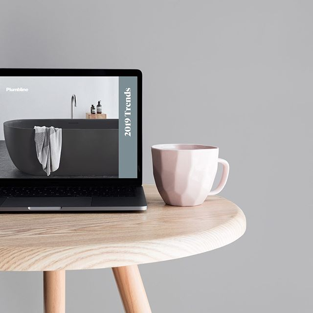 It's so chilly this seemed so fitting as all I want to do is be cozy & have a long bath 🛀 This design is a Plumbline trends digital brochure I designed recently which resulted in a lot of bathroom envy 😅  #graphicdesigner #coldaf #timefortea