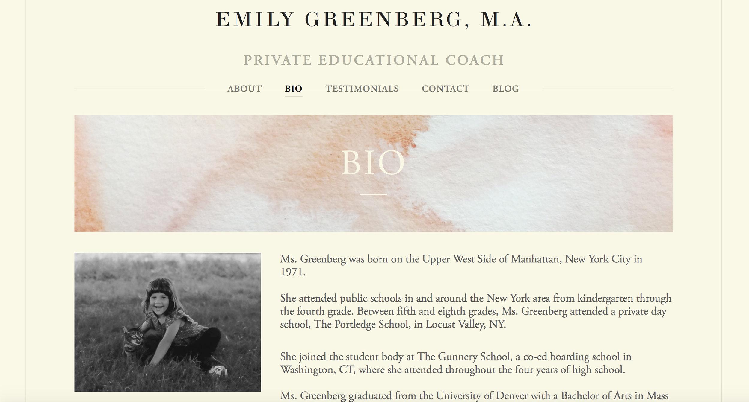 Emily Greenberg Website |  www.emily-greenberg.com