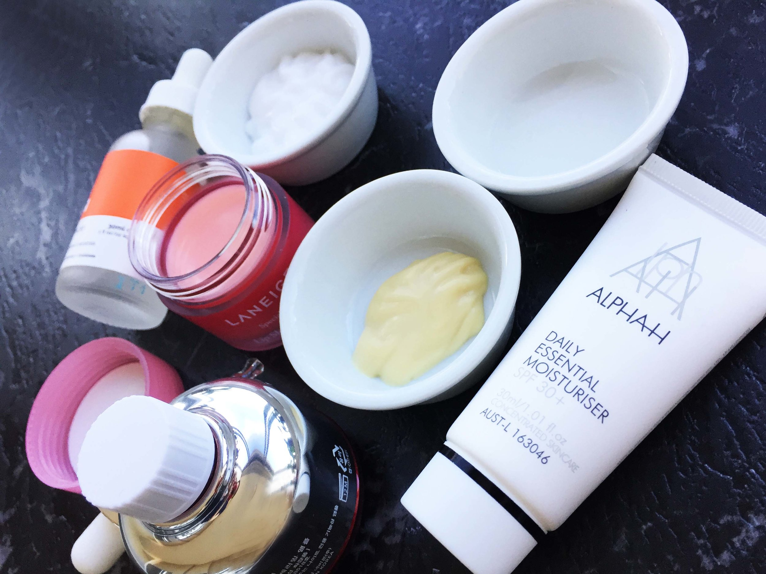 My product Usage; Cleanser, Moisturiser, Glycolic Lotion