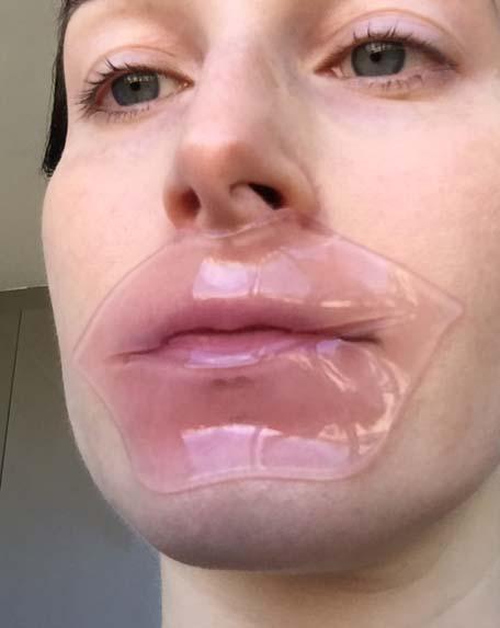 Wearing the BioAqua Collagen Nourish Lips Membrane