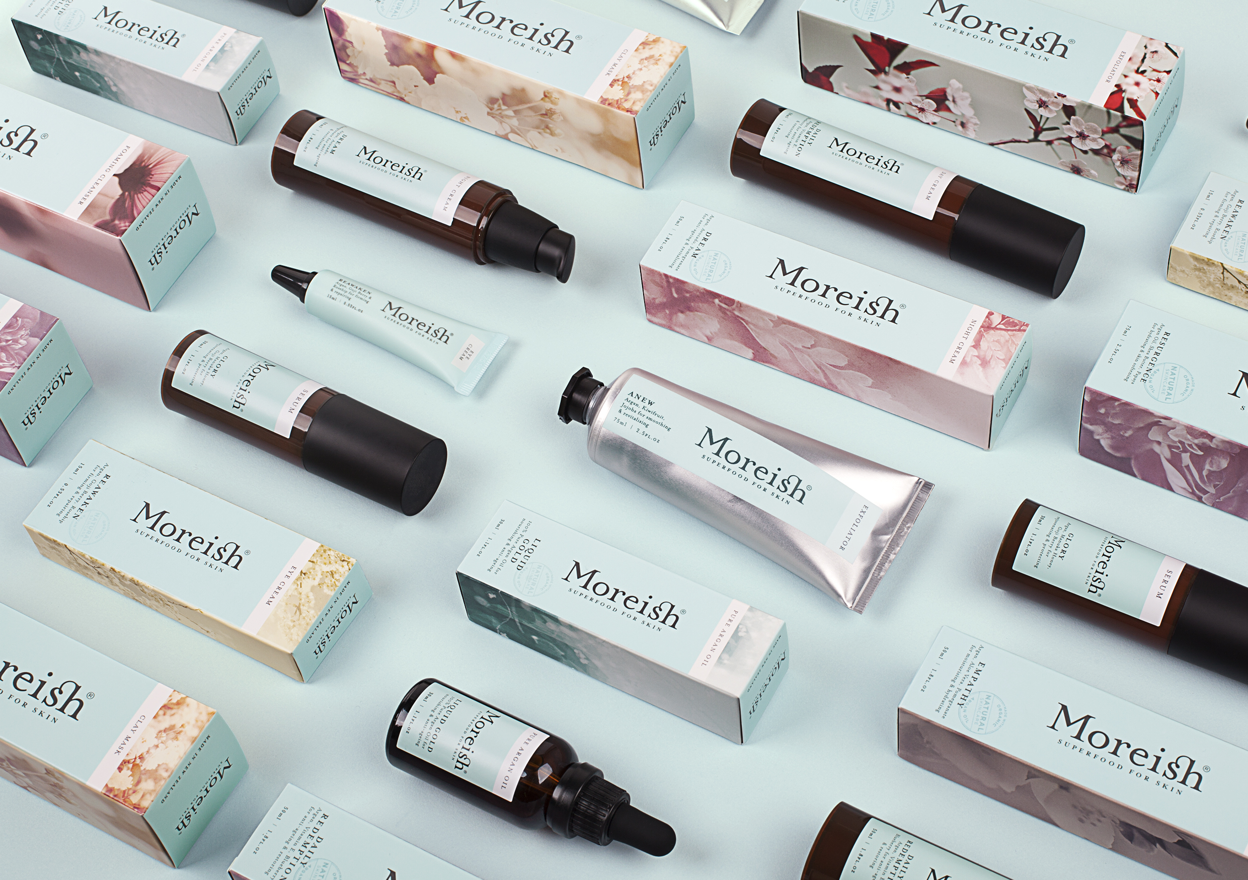 Moreish Superfood for Skin Products, Image: thedieline.com