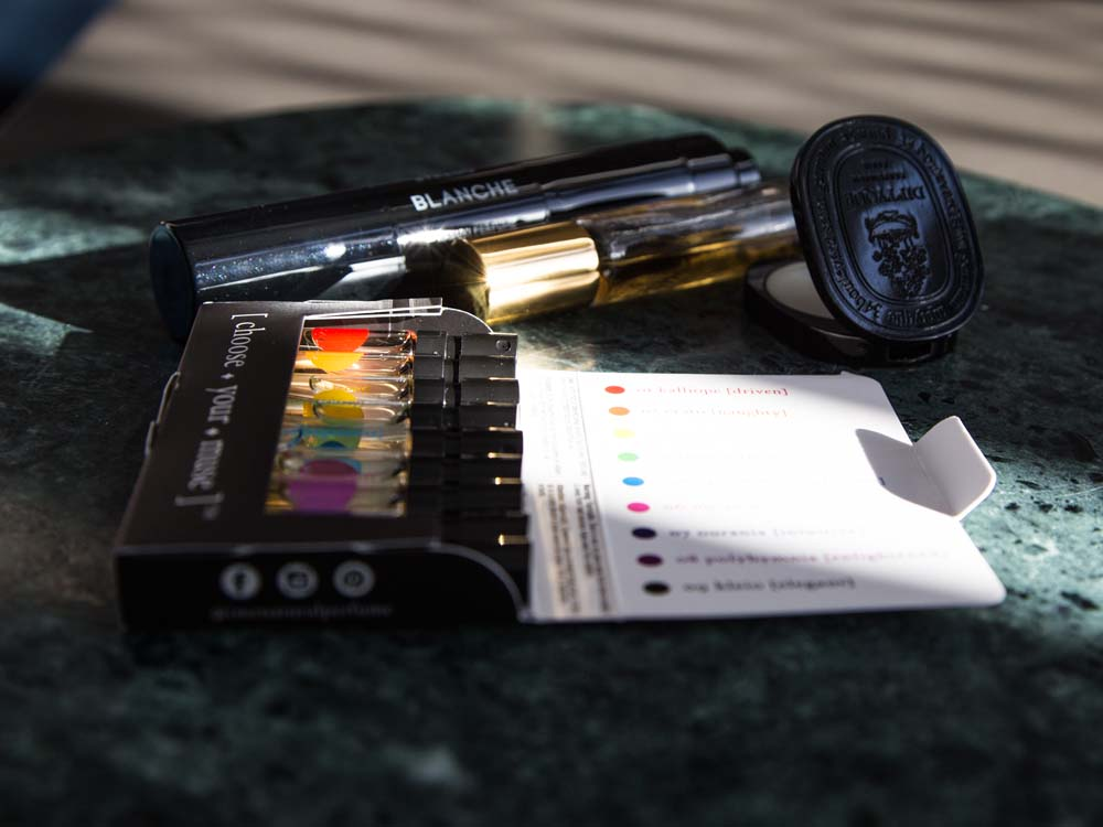 IME Natural Perfume, Byredo Kabuki Brush on Powder Perfume, Roll-On Perfumes, Diptyque Solid Perfume