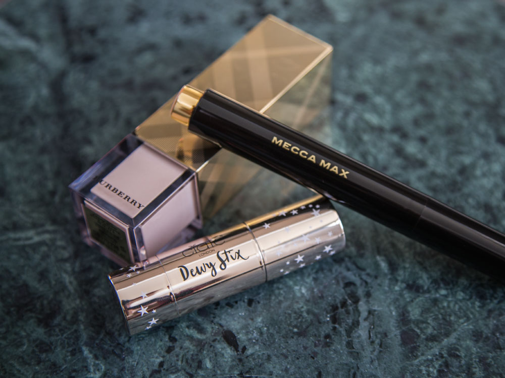 The Lazy Girl's Guide to Highlighters and Illuminators;Burberry Fresh Glow, Mecca Max Shimmer Shot Highlighting Wand and Ciaté London Dewy Stix Luminous Highlighting Balm