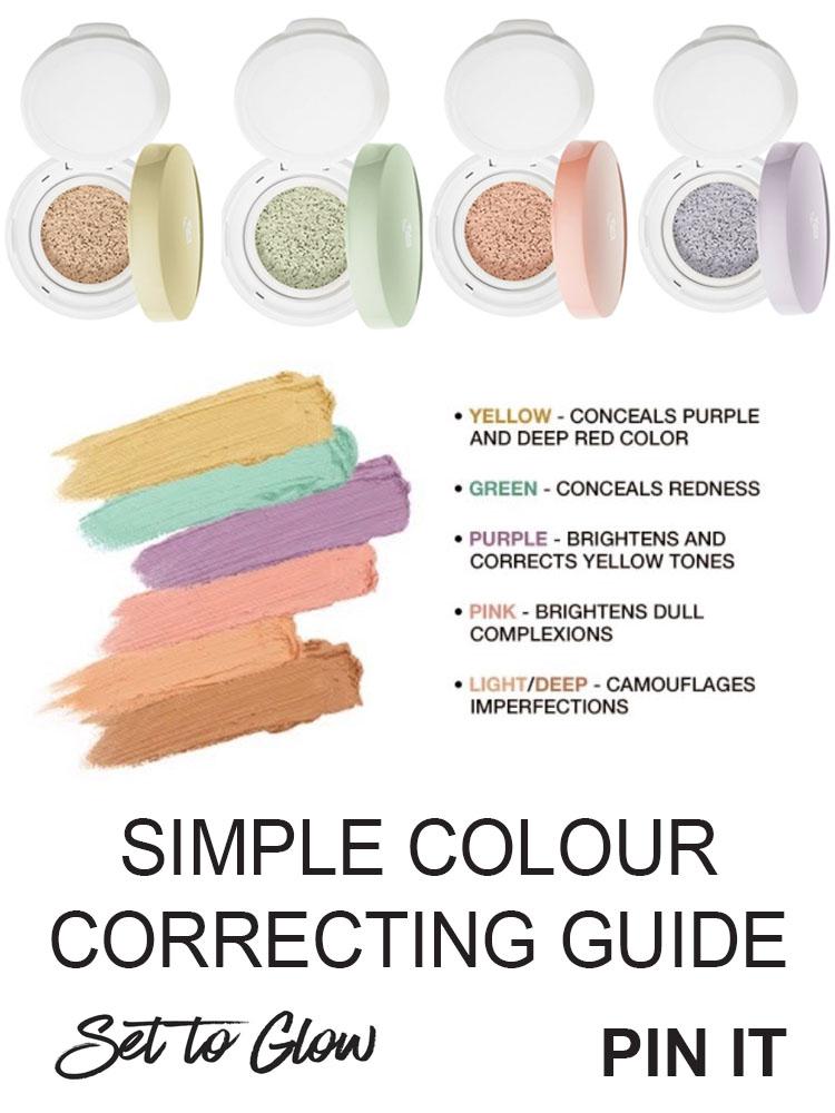concealer color guide