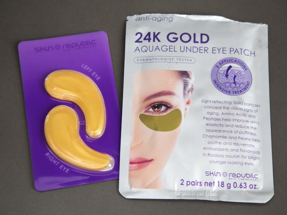 SKIN REPUBLIC 24K Gold Aquagel Under Eye Patch 2 Pair Pack
