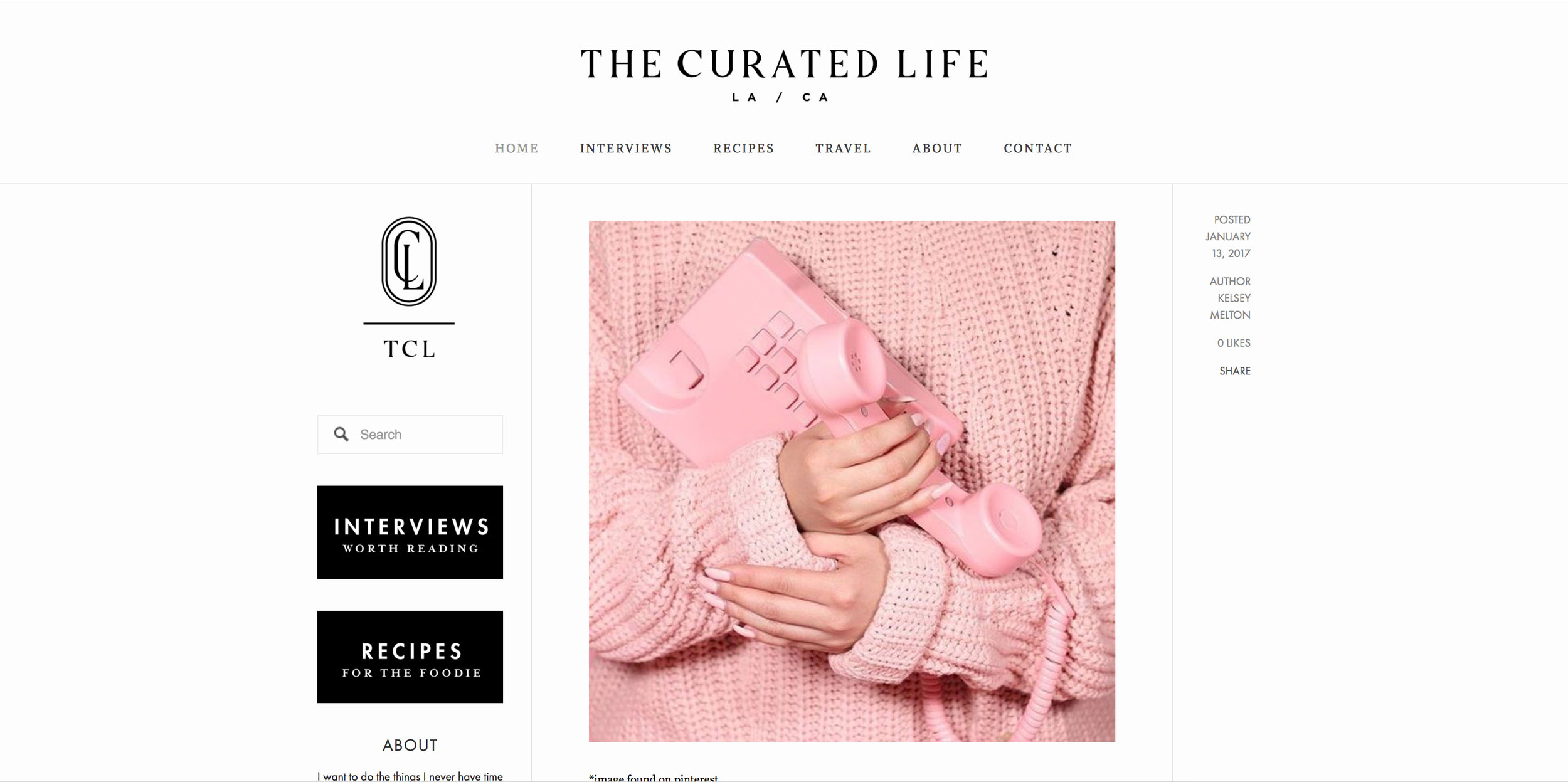 INTERVIEW - The Curated Life