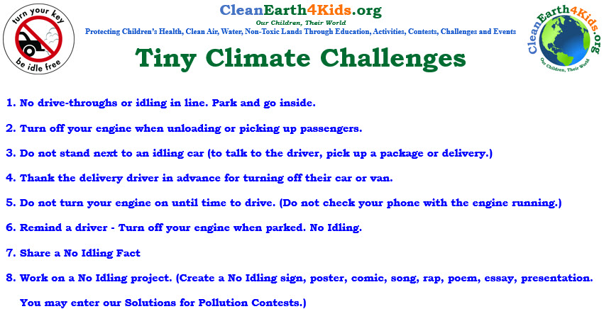 No Idling for Clean Air — CleanEarth4Kids