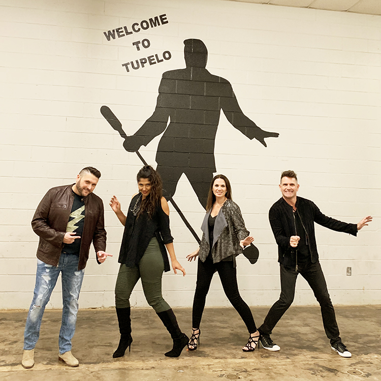 AVALON - Jody McBrayer, Dani Rocca, Janna Long and Greg Long – do their best Elvis impersonation during at stop in Tupelo, MS at the BancorpSouth Arena during the Greatest Hits Live Tour.  Courtesy Conduit Media / Red Street Records