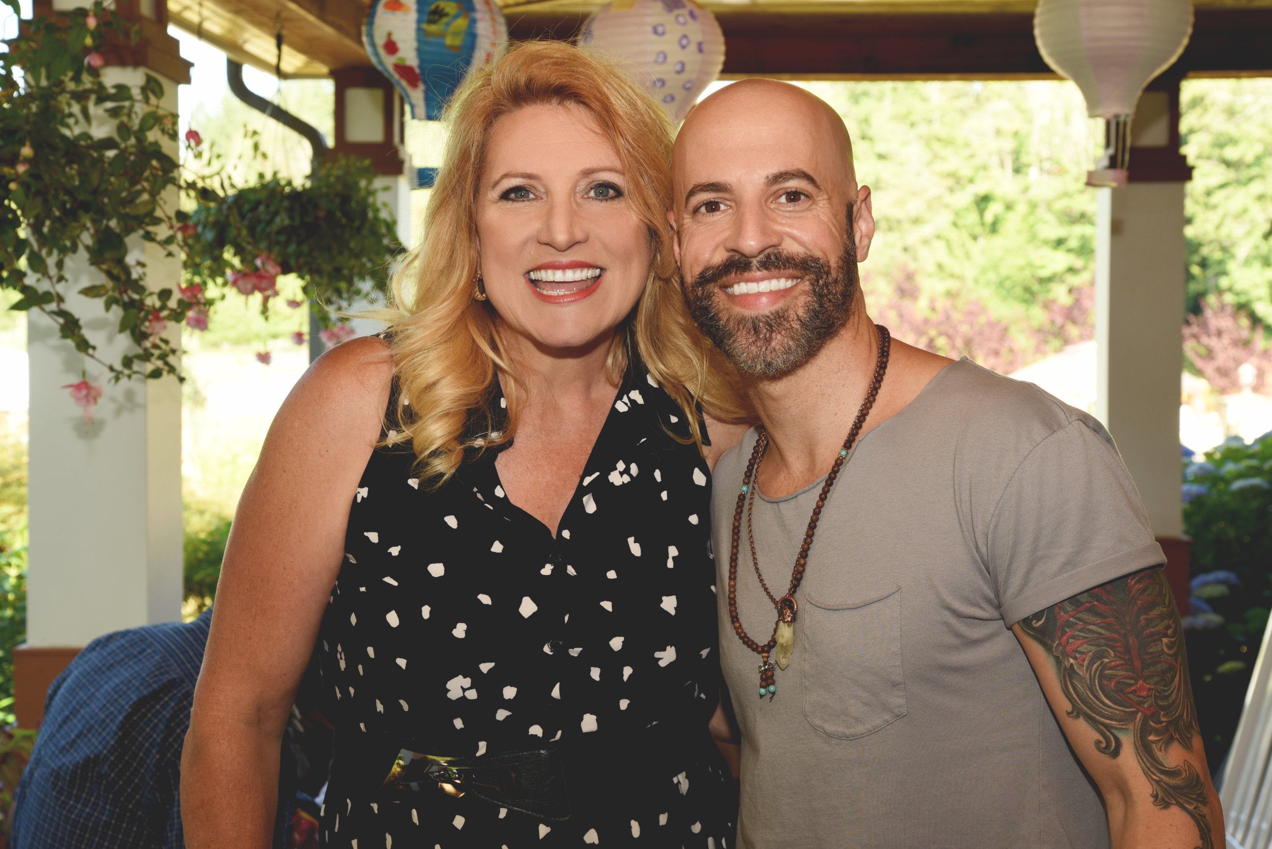 """Delilah and Chris Daughtry at the fifth-annual """"Farm to Feast"""" fundraiser for Point Hope at the radio host's private residence and farm outside Seattle, WA.   CLICK HERE for HIGH-RES VERSIONS OF ALL PICS  Photo by Ron Finney / courtesy of Point Hope"""