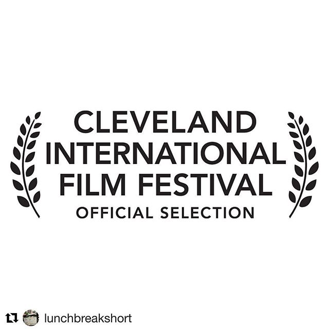 So proud and excited! @lunchbreakshort will be screening in Cleveland on March 28th and 29th 🎥 ・・・ So very excited to announce that Lunch Break is going to the Oscar Qualifying 43rd Cleveland International Film Festival. Thank you @clefilmfest for this incredible honor and thank you to our awesome cast and crew! . . . #clevelandinternationalfilmfestival #filmfestival #femalefilmmakerfriday #lunchbreakshortfilm #shortfilm #actor #filmmakers #cleveland #ohio #clevelandrocks