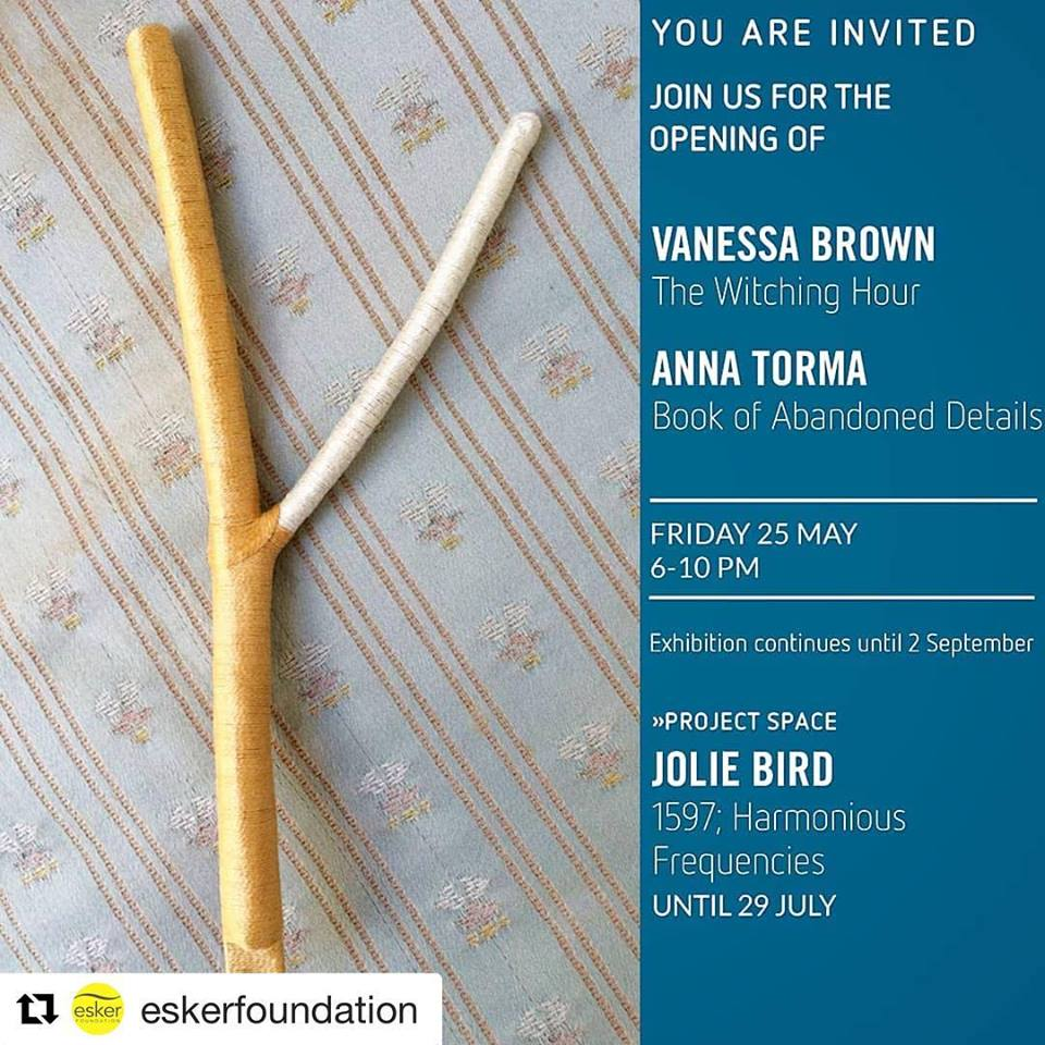 1597; Harmonious Frequencies - Opening reception for Vanessa Brown, Anna Torma and myself is Friday May 25th, 6-10pm. Hope to see you there!