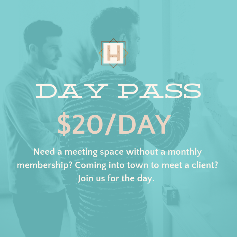 5 days a week of coworking unlimited black & white copies 200 color copies additional color copies 5 cents outgoing mail secure wifi coffee/tea networking events access to online community reservable private meeting space
