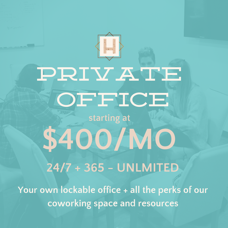 Private office space at The Hatchery