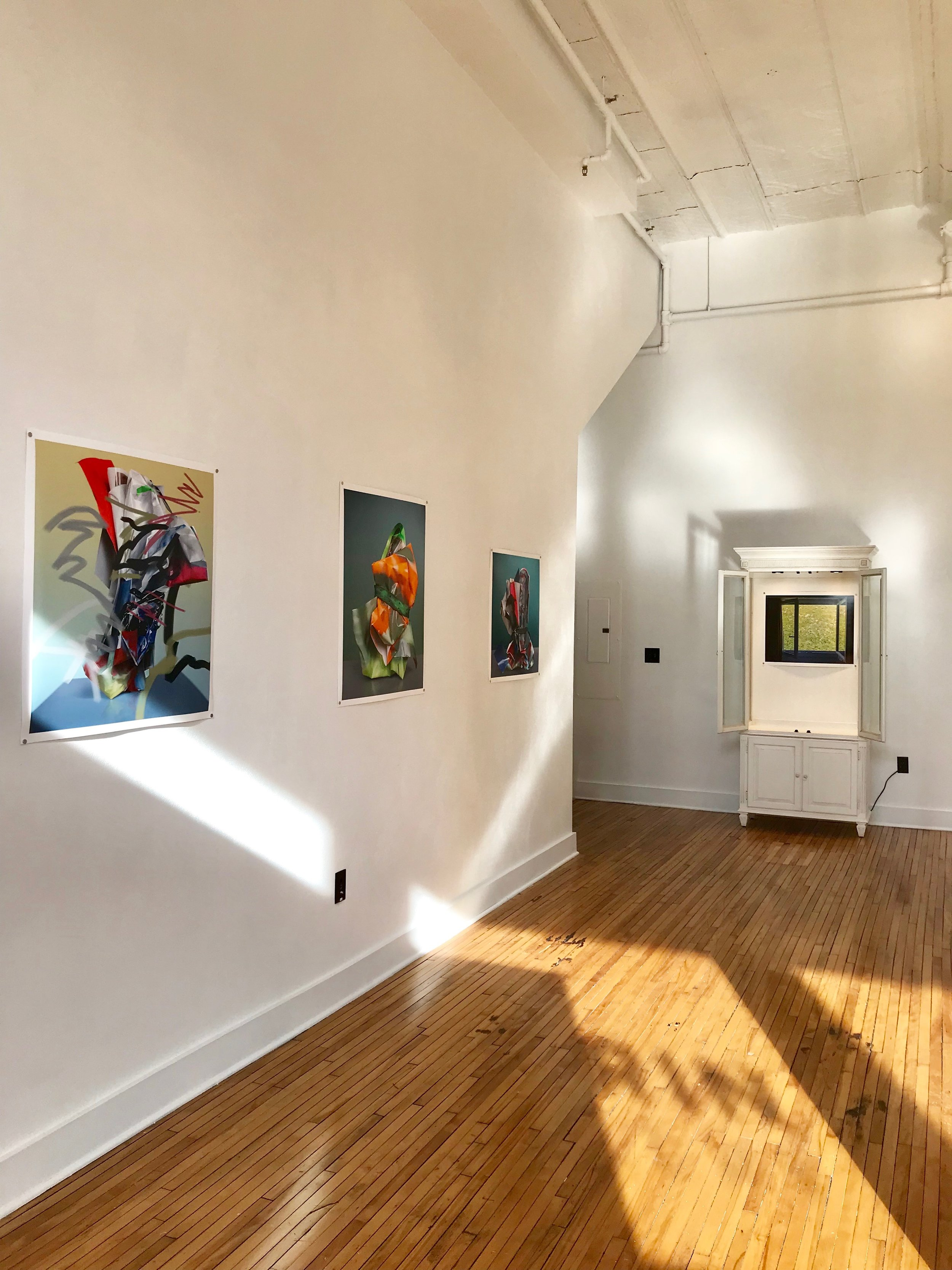 "Jake Platt's work on display, ""Objet Petit A""."