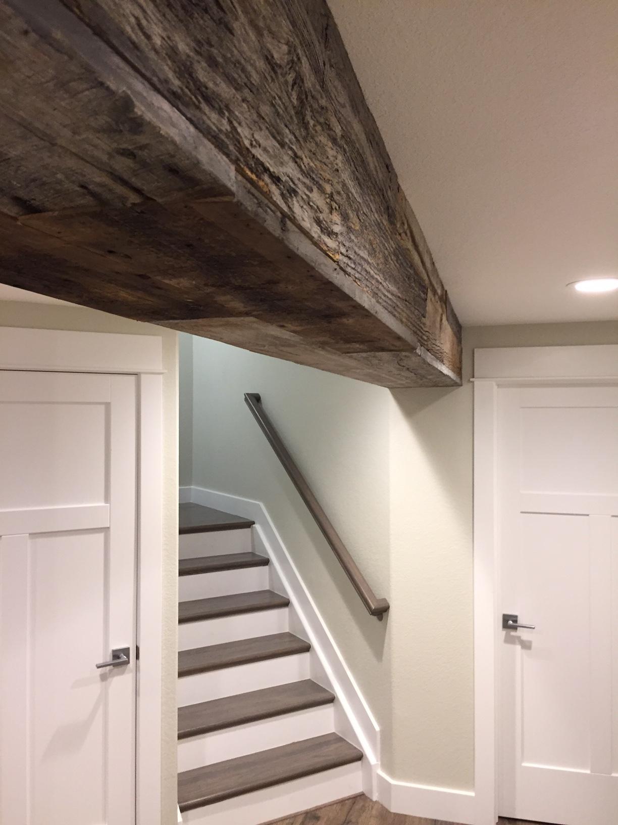 reclaimed wood basement idea