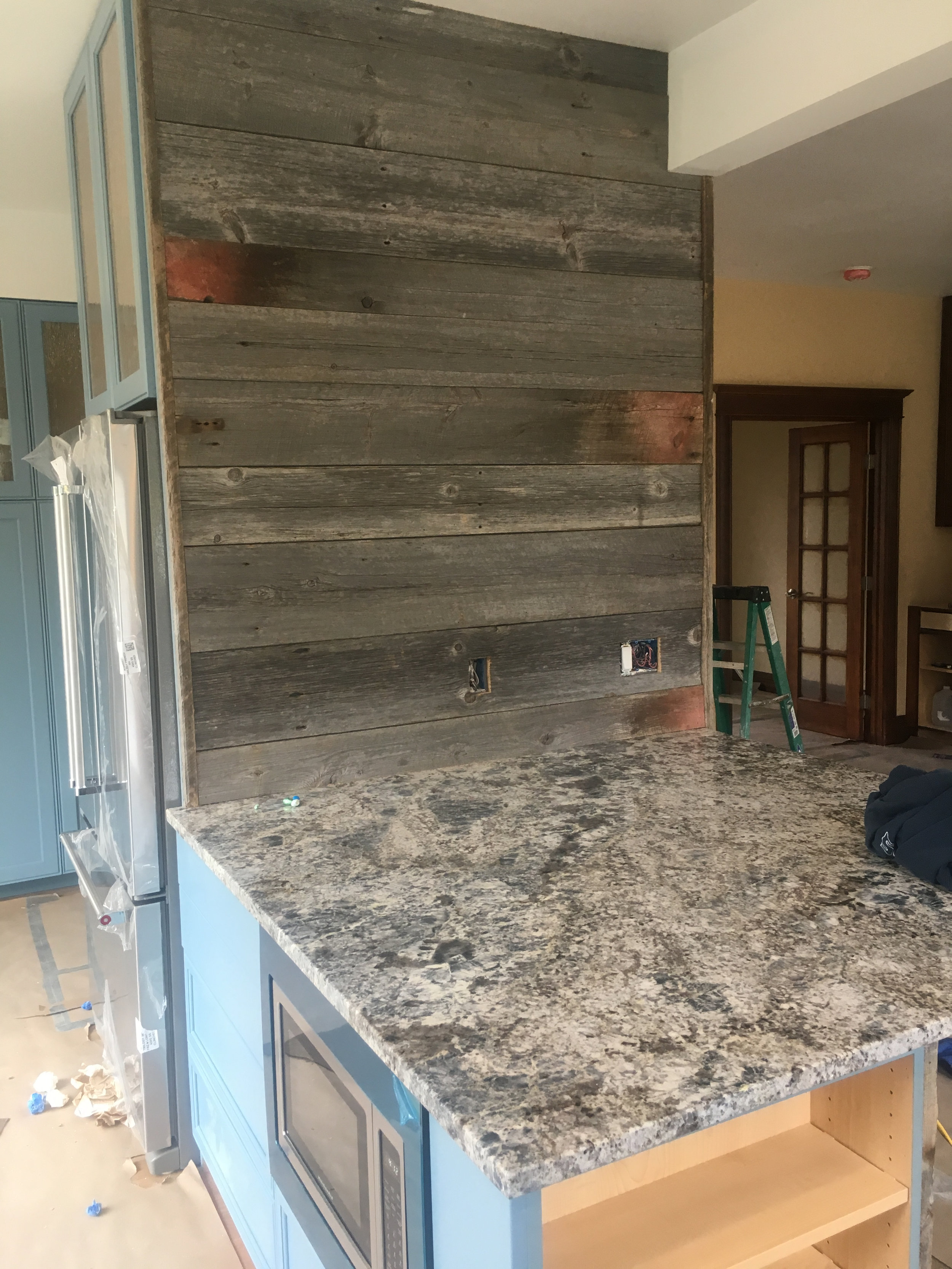 Barnwood kitchen and reclaimed wood kitchen colorado