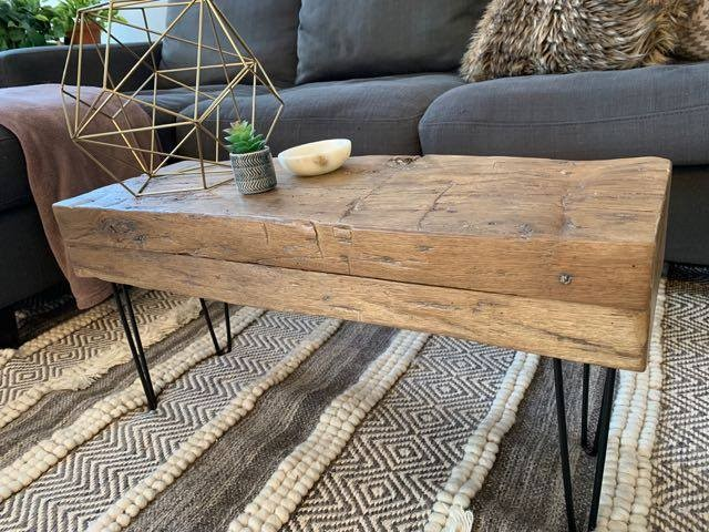 Beams are only for mantels! Said nobody ever!  Check out this awesome beam coffee table one of our clients sent us!  On top of that 20% off from now until May 11th!