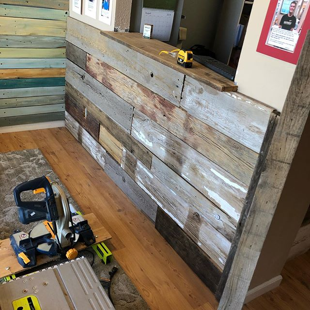 Completed a couple little accent walls this weekend! Turned out great! Let us know if we can do anything for you! #woodworking #reclaimedwood #longmontco #explorepage #localbusiness