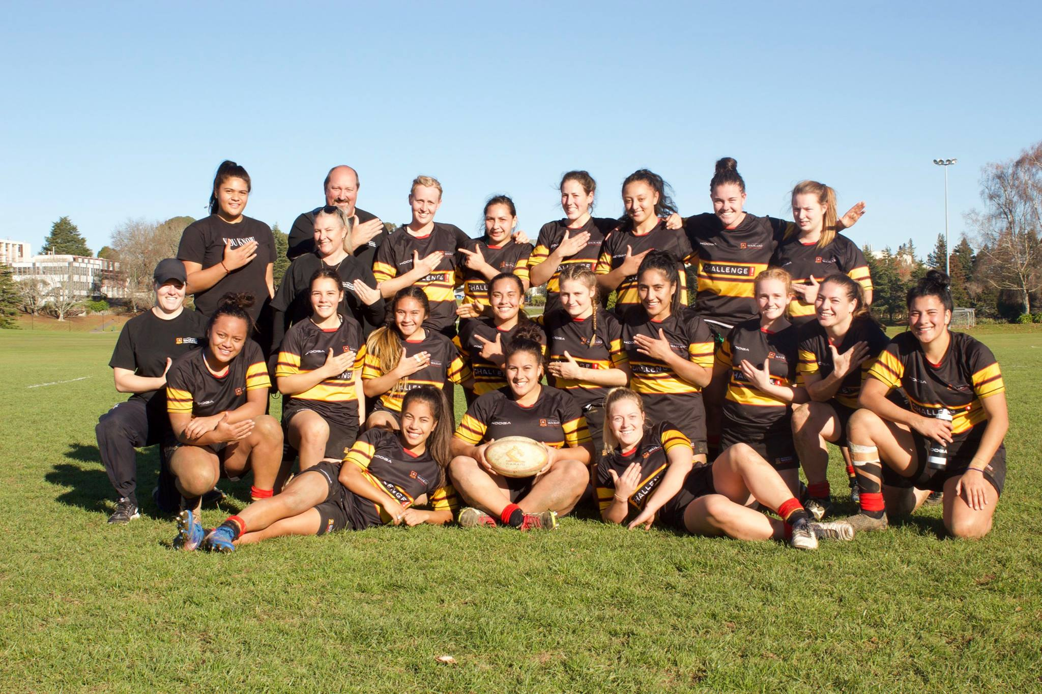 The Varsity Womens Team after their 93-0 victory over Southern United in the semi-final.