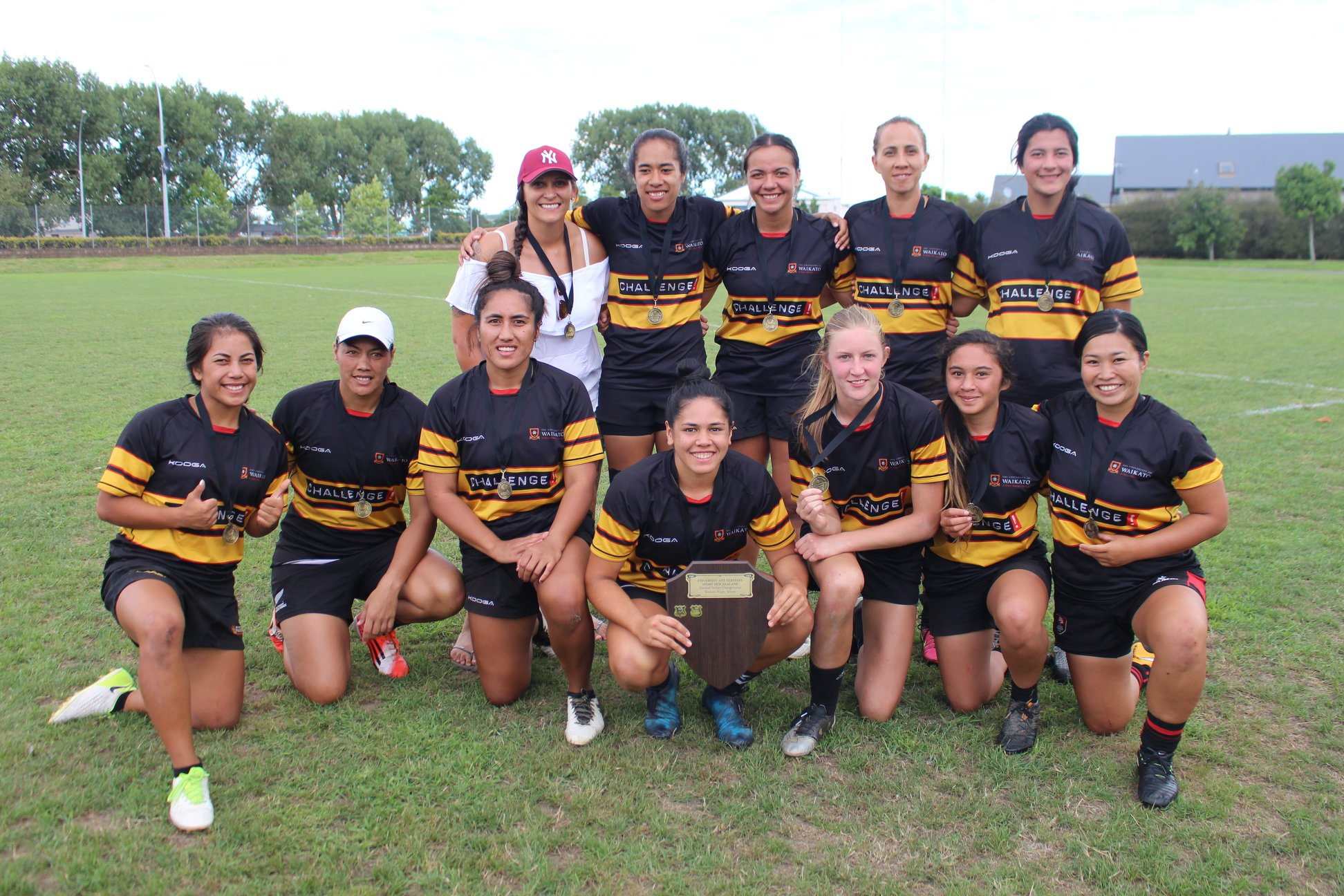 Winners are grinners.  Photo credit: Sport - University of Waikato, Facebook