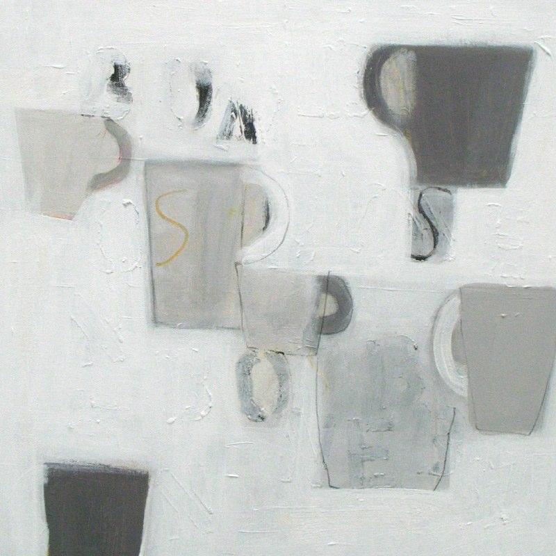 7 grey mugs