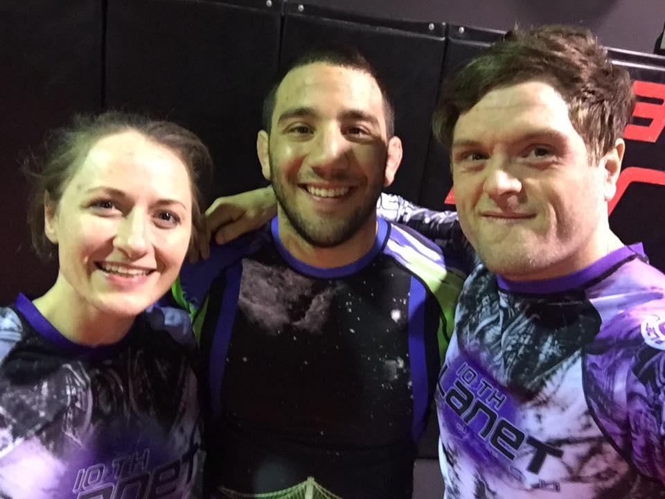 10th Planet Hobart's Nat & Jem with Jiu Jitsu Champion DENNY PROKOPOS
