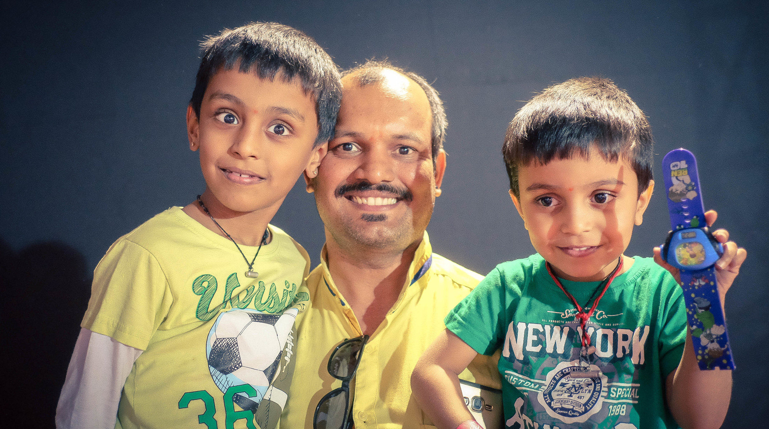 Mr. Raghavendra Kamat and his sons at our concert yesterday