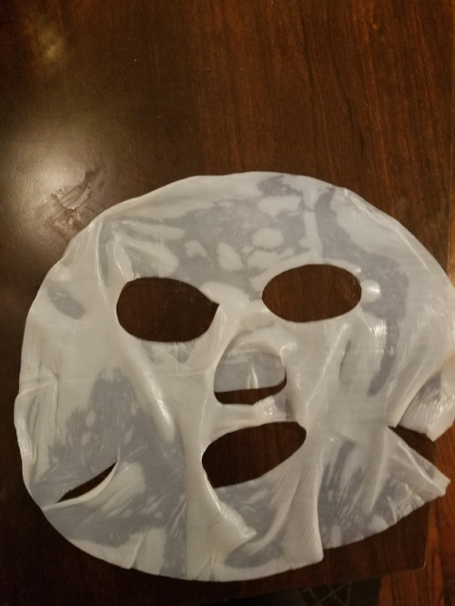 Don't worry I took this picture after I used the mask.I didn't contaminate my sheet.