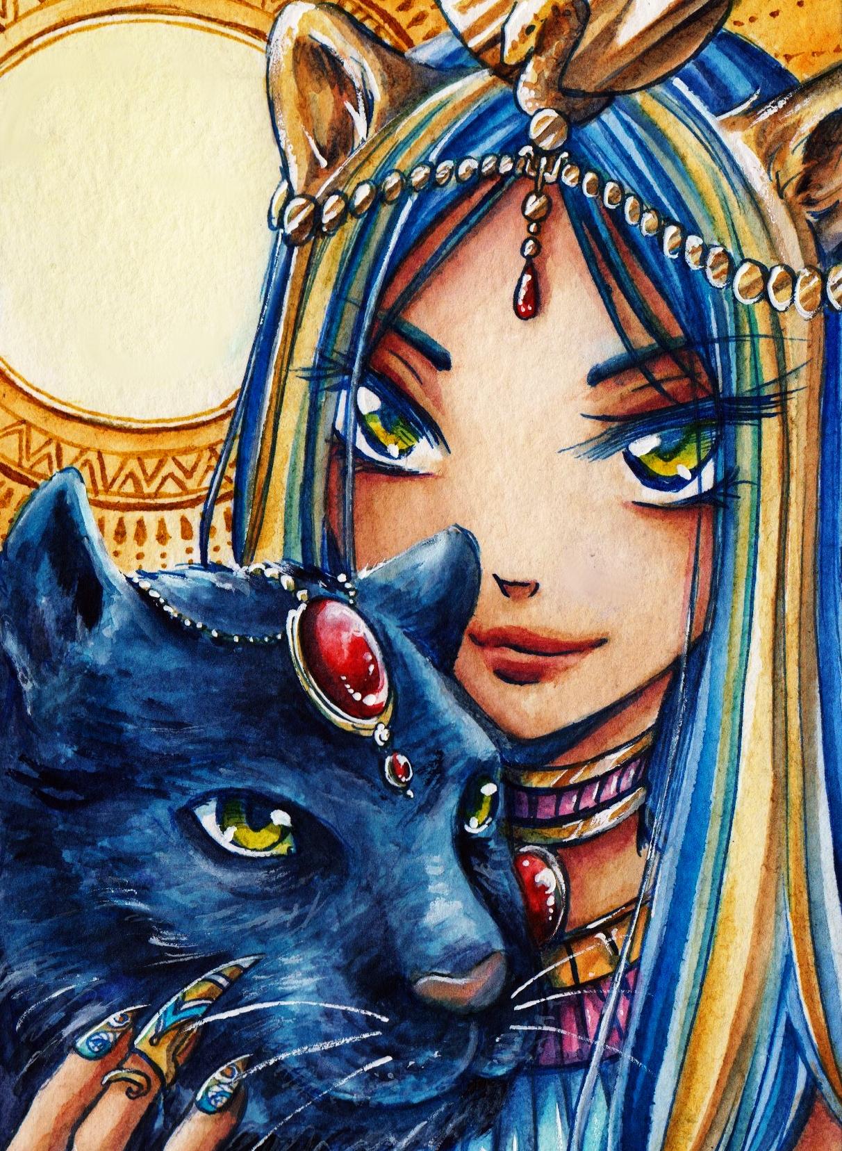 Sachmet got a blue Panther.jpg