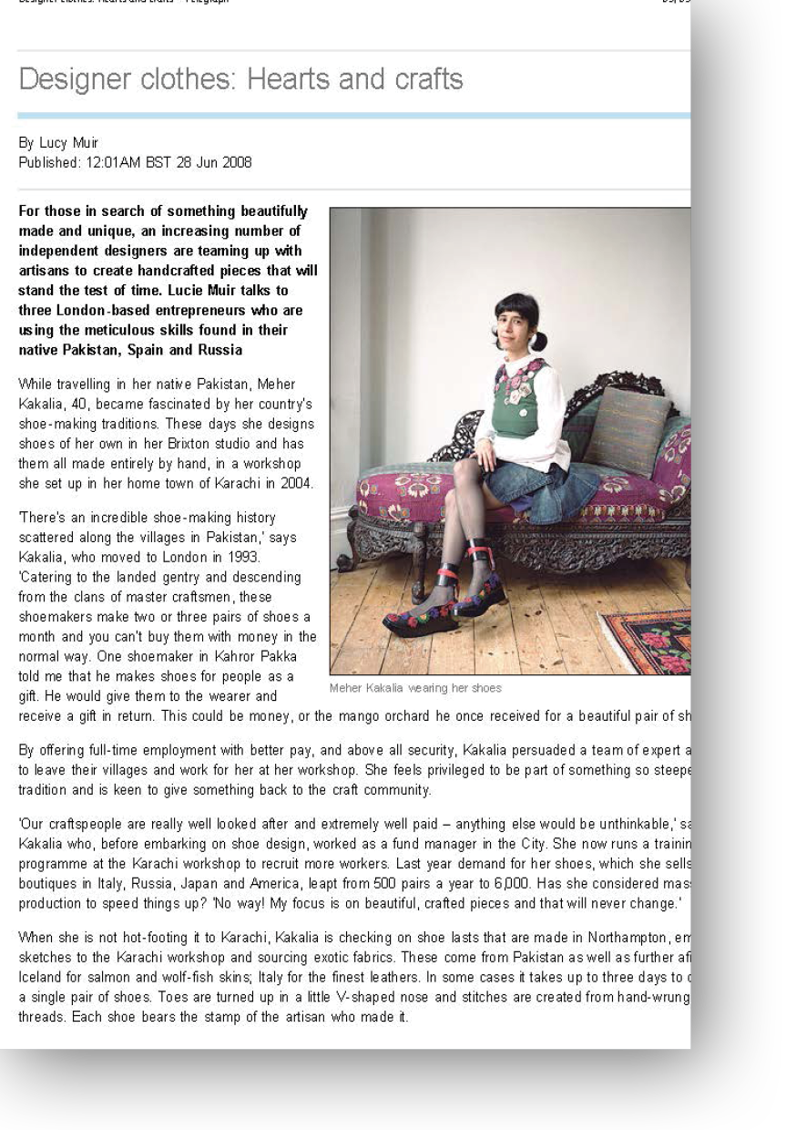 Article on fashion for Telegraph Magazine by Luice