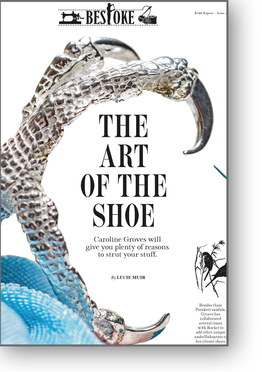 The Art of the Shoe, Caroline Groves written by Lucie Muir