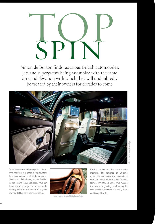 Simon de Burton on british luxury automobiles