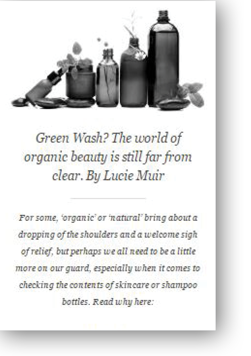 Lucie Muir writes for Hudson Walker on Eco Beauty