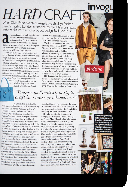 Article on Fendi for British Vogue
