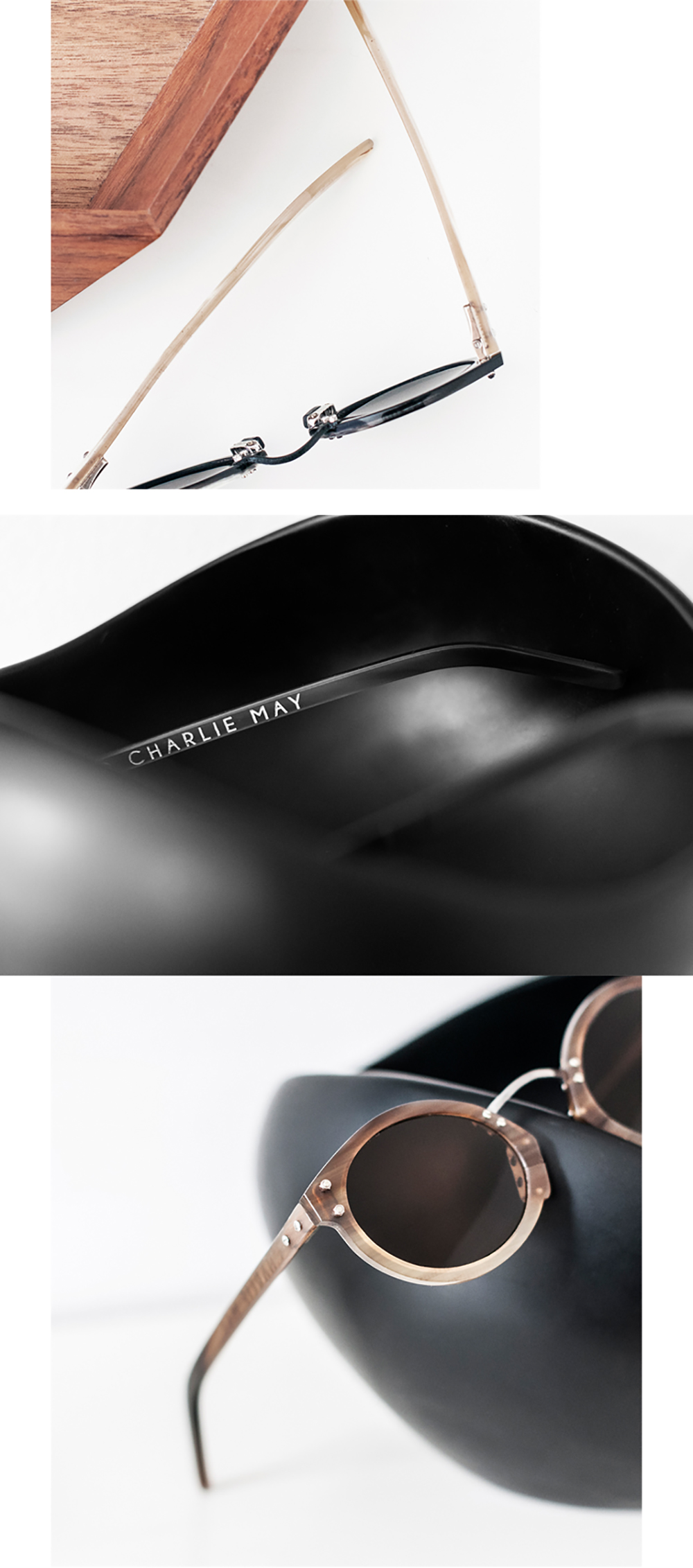 CHARLIE MAY  SS14 HORN SUNGLASSES by GUCEWICZ  PHOTOGRAPHY  IRINGO DEMETER