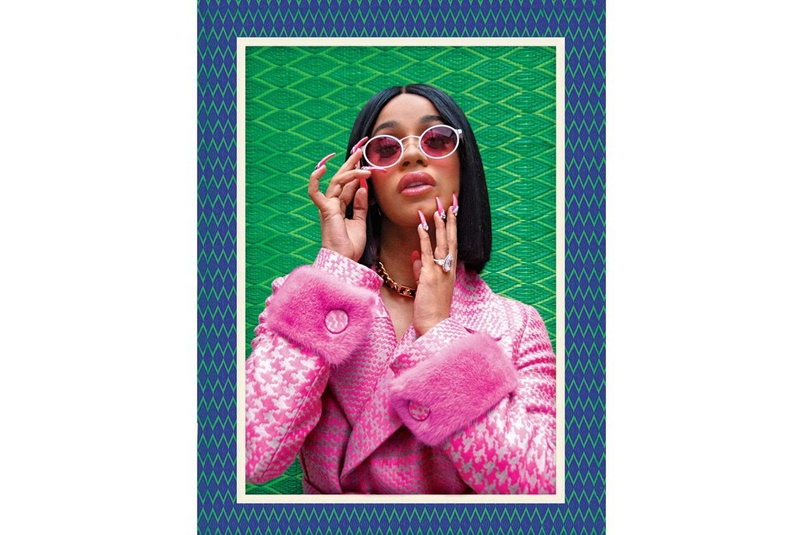 Front Cover of    NEW YORK MAGAZINE,    with    Cardi B    wearing 'Signature sunglasses' I designed for    Blyszak eyewear