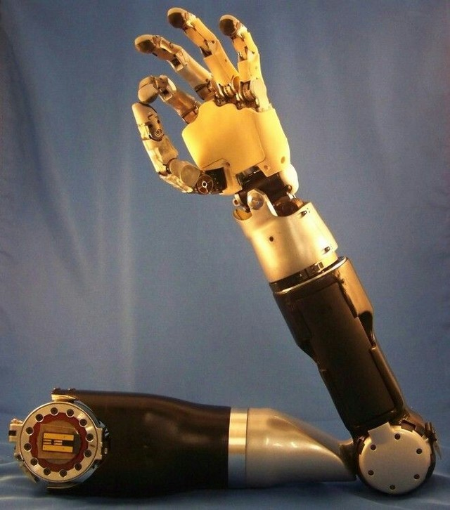 Image source : DARPA's  mind controlled prosthetic arm