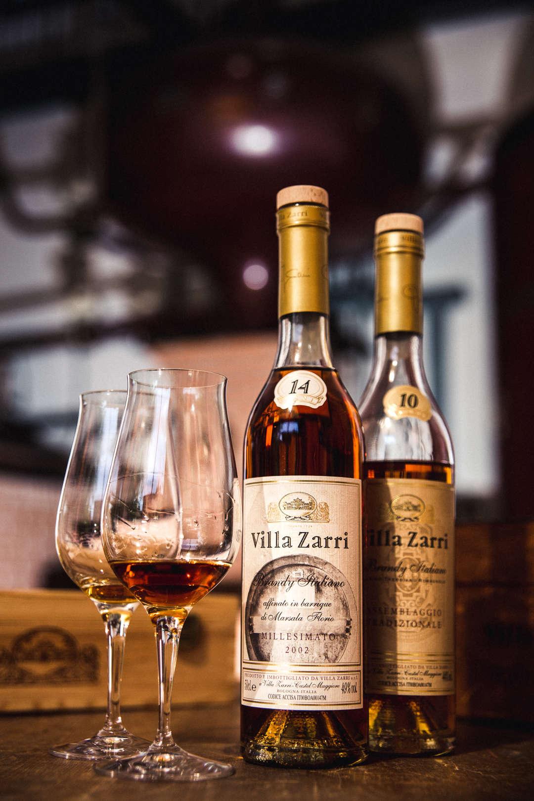 Alcuni dei Brandy Villa Zarri che offriamo