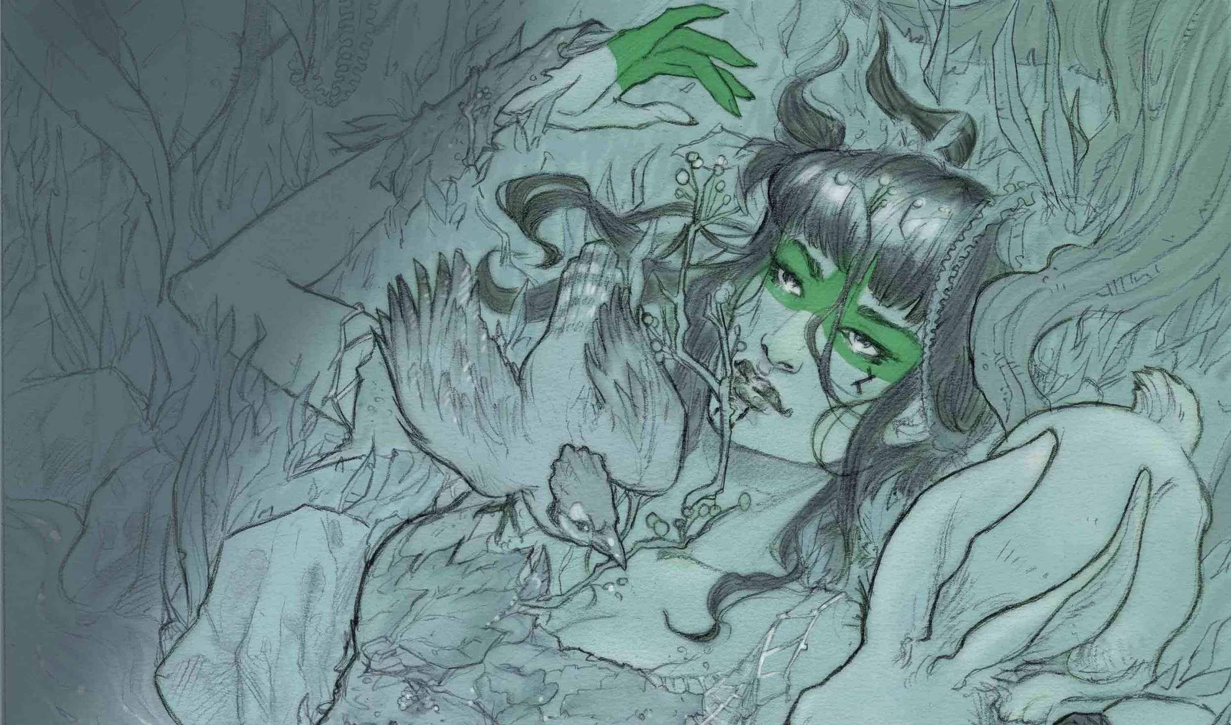 NIRMALA'S TALE See who Nirmala is in Iacobella's dreams. Discover her muse, fantasy and joy in her long journey through epic illustrations and poetry - By: Silvia Califano