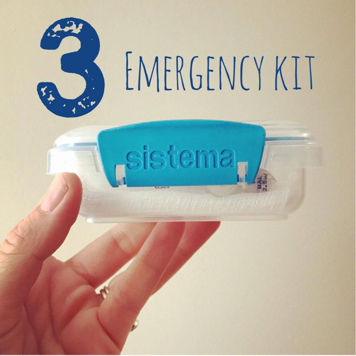 3. Emergency Back Up G Tube Kit  Always have a back up button! Always. You never know when you'll be laying your child down on a play place counter, floor, trunk of a car, grass, or at home (yes, those have all been true for us) to change their button out or reinsert one that's been pulled out. I kept ours in a pouch at first but was so concerned about the balloon being damaged that we switched over to these fabulous air tight hard containers by  Sistema . You can check out my previous  blog post  about the details inside. We carry this in our diaper bag and would not recommend leaving it in the car to avoid temperature changes. We live in Wisconsin so it's a definite no no for us.