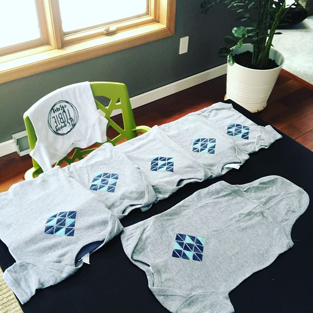 Hot off the press! Hand stamped ink with a heart felt design- can be g tube friendly! Read the sweet story behind this project (link in bio)! You can head over to the shop to snag one before the rest of this order ships out to New York, NY!  #gtube #fedisbest #feedingtube #tubefed #onesie #adaptive #adaptedclothing #medicallycomplexkids