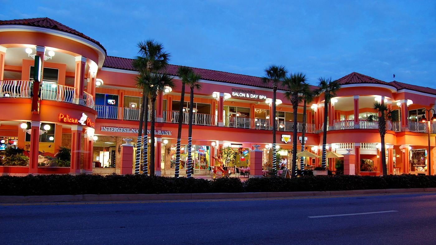 We are located on the second floor of the Pelican Walk Shopping Center -  483 Mandalay Avenue ,  Clearwater Beach ,  FL .