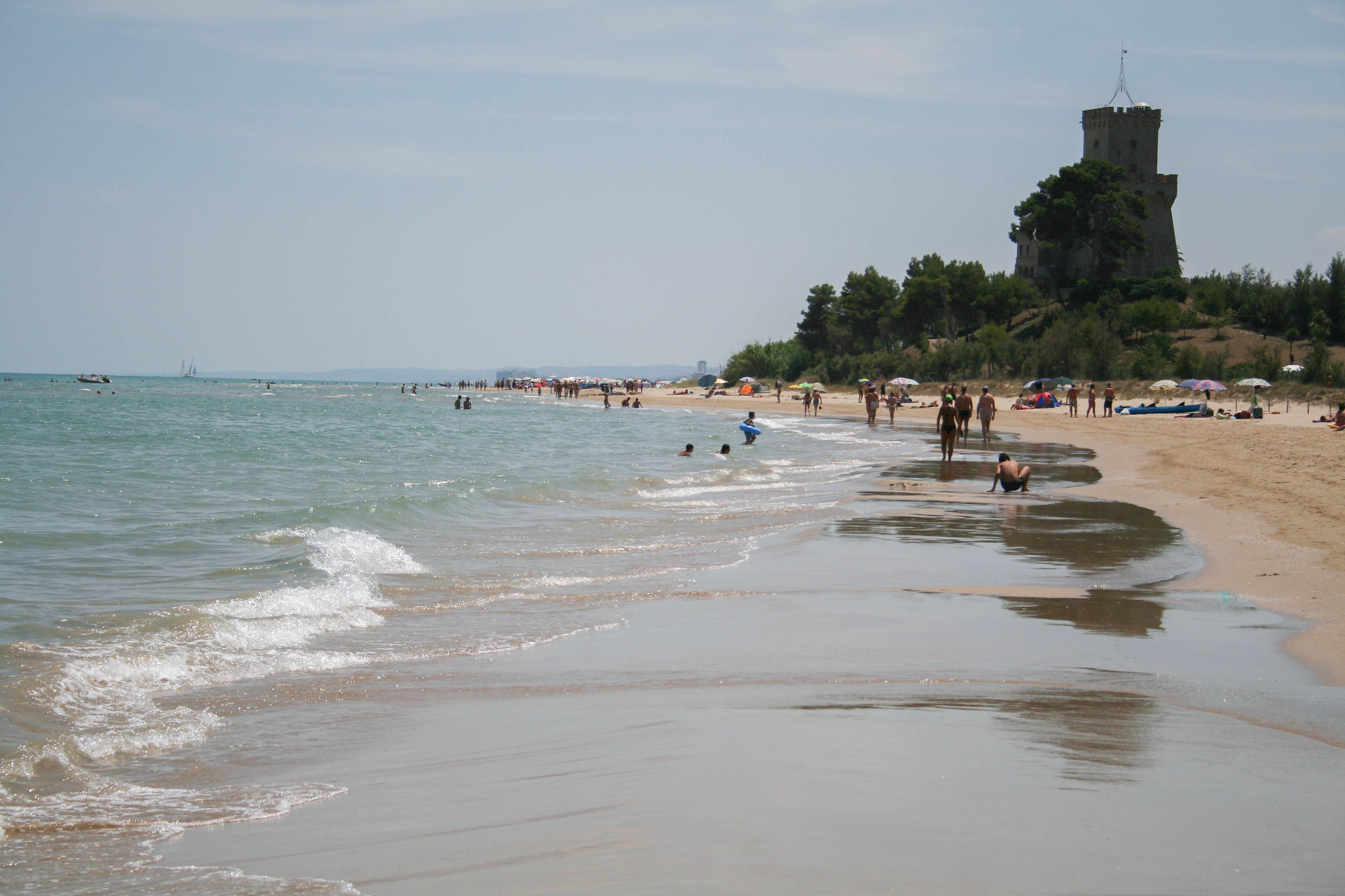 Torre del cerrano natural reserve , free beaches, clean water and pine trees for shade during hot hours